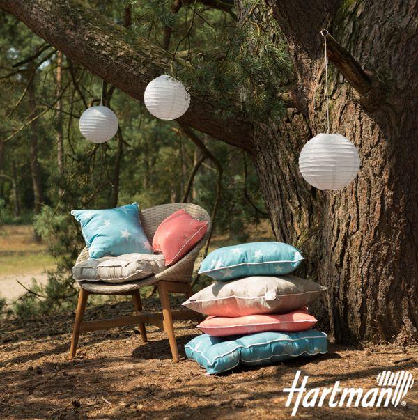 De sterrenwereld van #Hartman! Comfortabele #tuinkussens waar u optimaal in kunt relaxen op een heerlijke zomeravond.