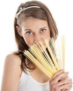 Woman Holding Spaghetti