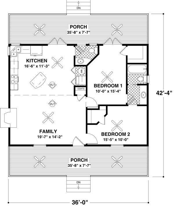 Malissa Tack's Tiny House Big Loft Design in 3D Add on a bedroom on the ground floor, and keep loft just over kitchen/ bath area, but good plan of space for the down stairs living area.