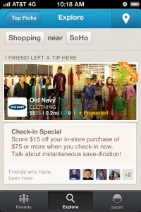 Foursquare Introduces Promoted Updates | Social Eyes Marketing http://www.getsocialeyes.com/blog: Flocial Media, Website, Social Media, Foursquar Promotions, Foursquar Rolls, Eyes Marketing, Promotions Updated, Foursquar Promotedupd, Foursquar Introducing