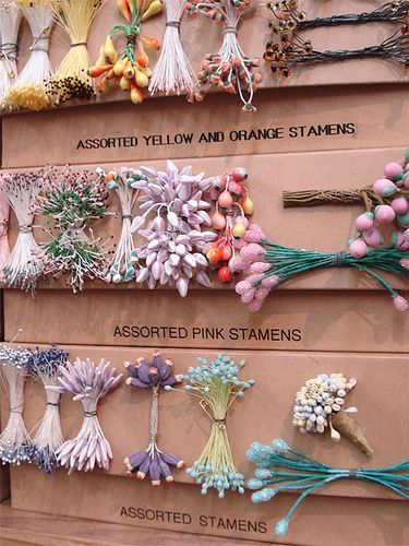 Tinsel Trading Company, New York, Vintage Millinery Stamens by such pretty things, via Flickr