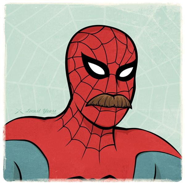 Spiderman Mustaches For Superheroes - DesignTAXI.com