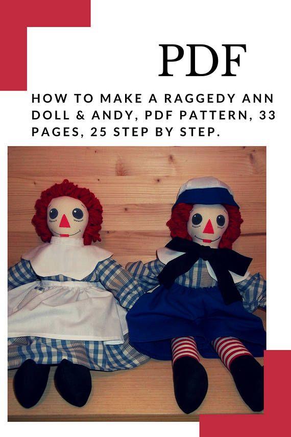 How to Make a Raggedy Ann Doll & Andy PDF Pattern download