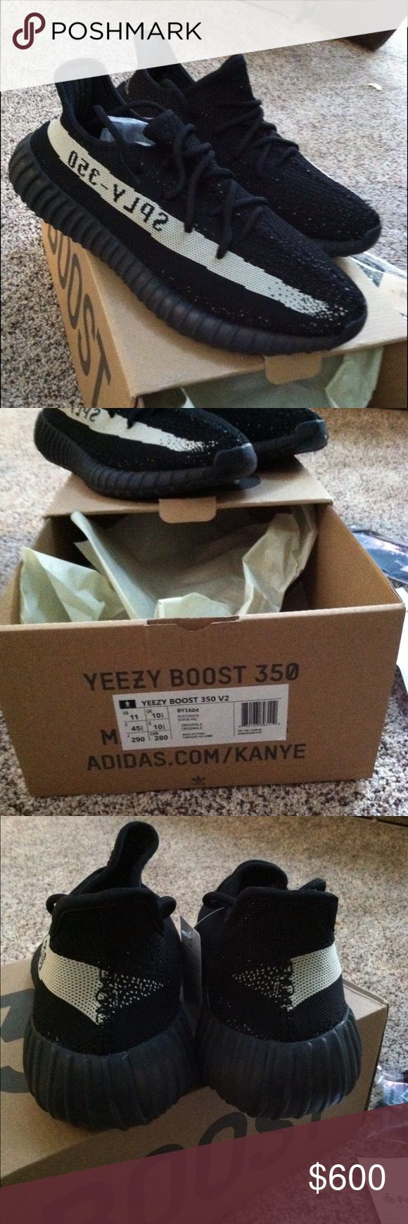 Yeezy boost Adidas V2 men's 11 Brand new yeezy shoes. Men's 11. Brand new from Adidas. Never wore these. Will include the box, shoes, socks, keychain. I accept offers. I have the reciept from footlocker. Adidas Shoes Sneakers