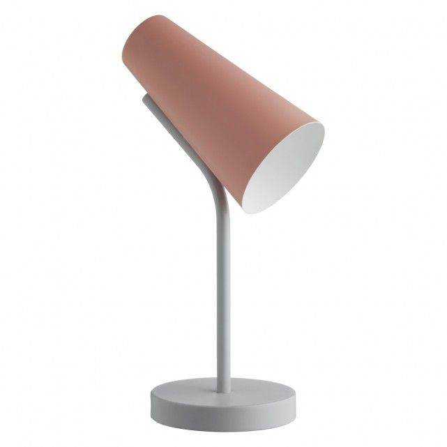 RAFI Dusty pink and grey metal desk lamp
