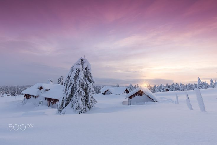 ***Snowbound Hamlet at Sunset (Lillehammer, Norway) by Rob Kints on 500px c.