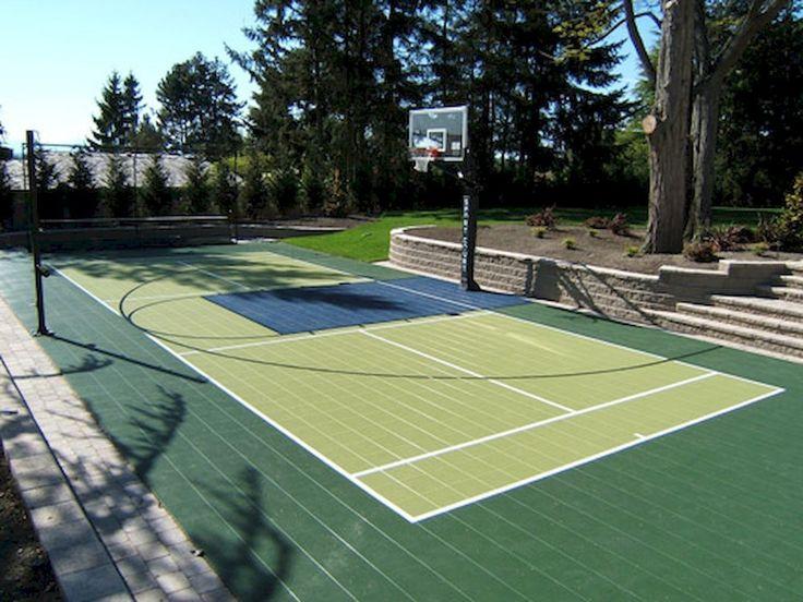Wonderful Small Backyard Basketball Court Ideas