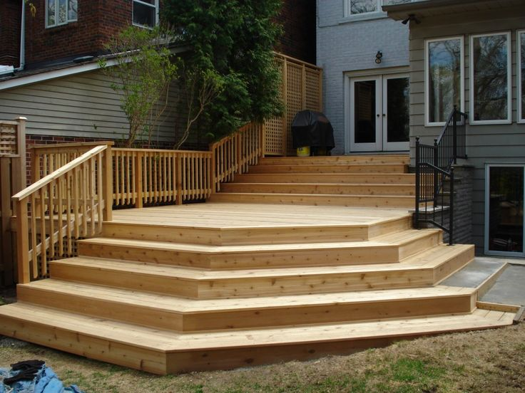 Landscaping Around Tall Deck : Decks on wood deck designs patio and tall planters
