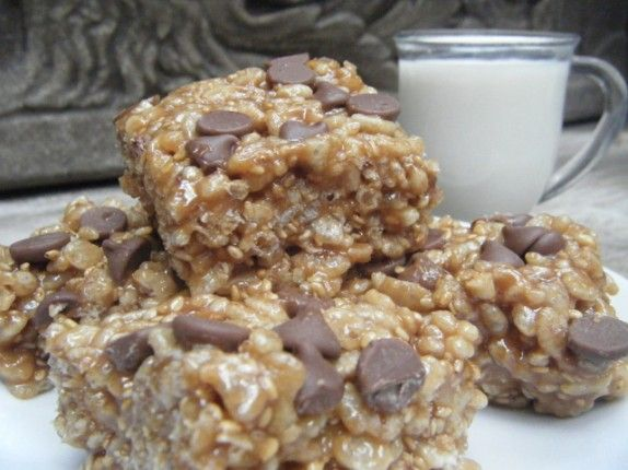 "A much healthier version of a ""Fiber-One Bar"" or ""Special K Bar."" Pure ingredients and even tastier! Kids love them too!"