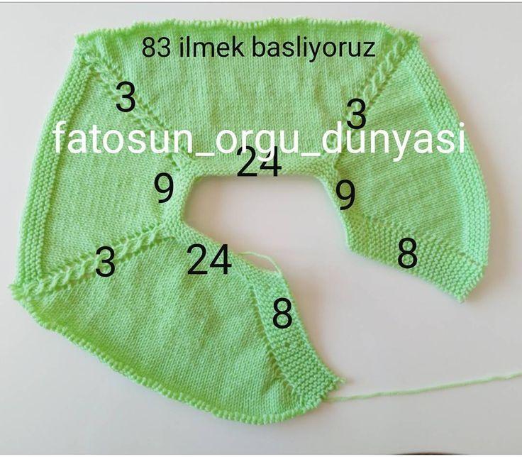 """350 Likes, 57 Comments -  Fatoş Özbey  (@fatosun_orgu_dunyasi) on Instagram: """"Yandan düğmeli yeleğin robasini soran arkadaşlar için ( öndeki patın üstündeki 8 ilmek öndeki 24…"""" [] #<br/> # #Knitting,<br/> # #Crochet,<br/> # #Motif,<br/> # #Tissues #Drink<br/>"""