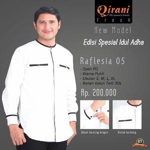 Baju Kemeja Pria Koko Qirani Raflesia 05 Putih