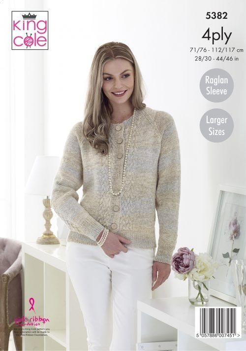 😊 Free, Easy to Follow Cable Cardigans Knitted in Drifter 4ply