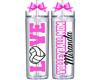 Voleibol / voleibol regalos / equipo / entrenador de voleibol / voleibol mamá / personalizado vaso de voleibol