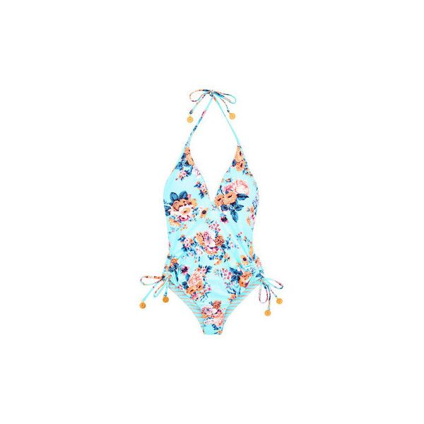 Seafolly One Piece Blue Turquoise Réversible Deep V Swimwear Swimsuits (210 NZD) ❤ liked on Polyvore featuring swimwear, one-piece swimsuits, blue, women, one-piece swimwear, seafolly swimwear, turquoise swimsuit, blue one piece swimsuit and swimsuit swimwear