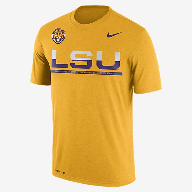 REPRESENT YOUR TEAM The Nike College Legend Staff Sideline (LSU) Men's T- Shirt