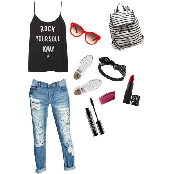 ♡❤️ by natasha-gatzke on Polyvore featuring polyvore, fashion, style, Wet Seal, Converse, Rebecca Minkoff, Equipment, Hourglass Cosmetics and Lord & Berry