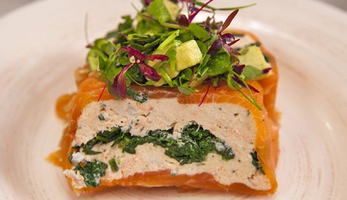 Salmon and Spinach Terrine - Good Chef Bad Chef