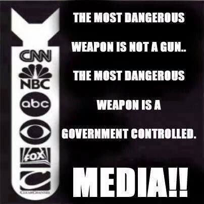 """Not even Government Controlled, Liberal Controlled or Conservative Controlled. 'When the People can't trust the media, then they trust no one.""""  When the News was just the Facts not your companies opinion of the News.  I can think for myself, and draw my own opinion.  Leave the Editiorial for the end of the news cast."""