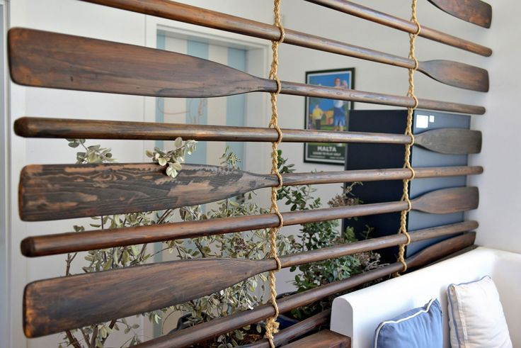 Meyer Davis — Baia Beach Club #roomdivider #boatoar #oar