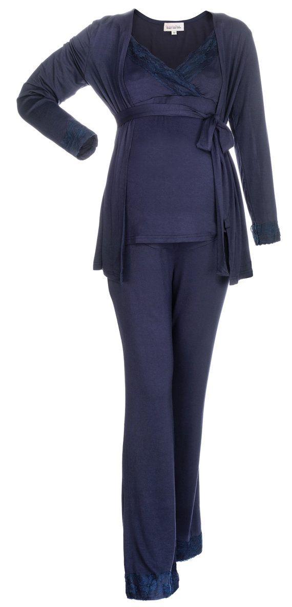 Maternity Nursing Pajamas  3 piece set  Great Add to your