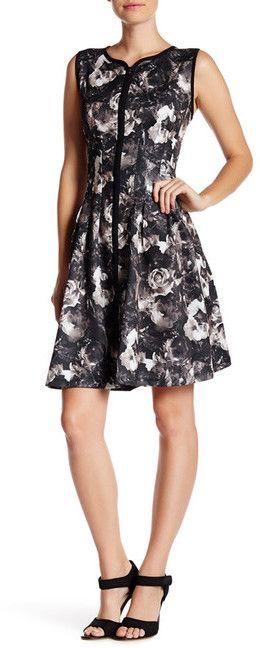 Betsey Johnson Scuba Zip Front Dress