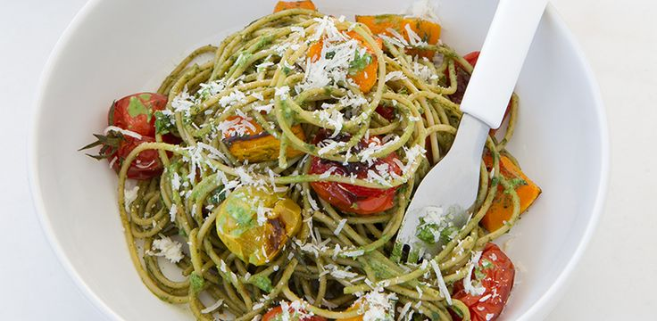 FREE Thermomix Recipe: 12WBT Basil & Walnut Pesto Spaghetti
