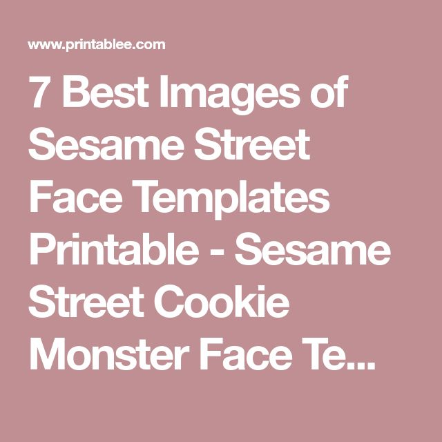 The 25+ best Sesame street cookies image ideas on Pinterest - printable face templates