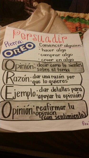 Picture only.... persuasive writing spanish anchor chart.... pinterest  motivated