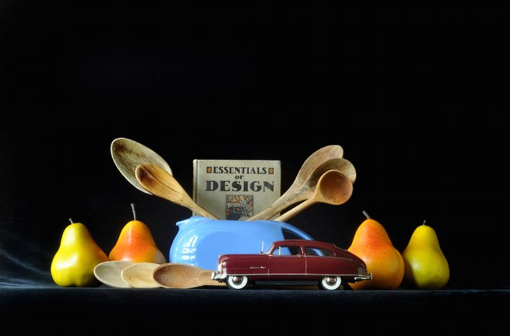 """""""Modern Pitcher with 1949 Nash Airflyte Ambassador,"""" Archival Digital Color Print, 11 x 14 inches"""