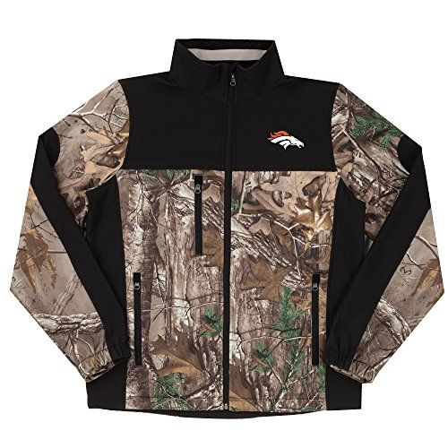 NFL Denver Broncos Hunter Colorblocked Softshell Jacket, Real Tree Camouflage, Small