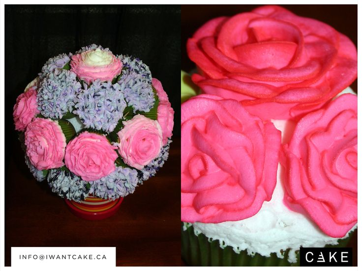 Decorated with flowers for any occasion. We make buttercream, fondant, royal, and gumpaste flowers for every occasion or event. For more information email us  info@iwantcake.ca