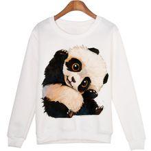 Animal lindo Sudadera sudaderas mujer Panda Impreso Harajuku Sudaderas Pullovers Moleton Kwaii WMH29