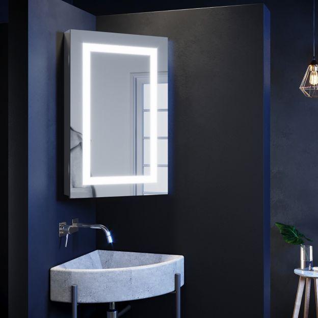 Led Lights Mirror Corner Cabinet Storage Wall Mounted 450x700mm For Bathroom Bathroom Mirror Cabinet Bathroom Mirror With Shelf Mirror Cabinet With Light