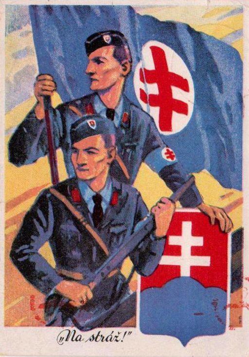 "First Slovak Republic propaganda poster. ""On guard!"""