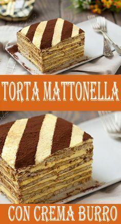 TORTA MATTONELLA CON CREMA AL BURRO