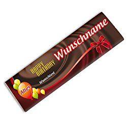 Über eine personalisierbare Schokolade mit dem eigenen Namen freut sich die Oma und der Opa garantiert