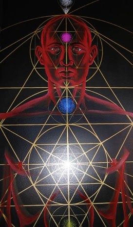 showing where the body fits within the sacred geometry symbols / Sacred Geometry <3