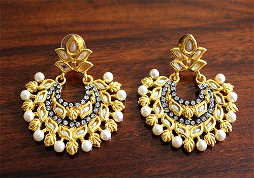 Kundan Earring – Desically Ethnic  #Kundan #Earrning #Ethnic #desi #desicallyethnic #Indian #weddings #marriage #pearl #Chandbalis #Shopnow #onlineshopping #ecommerce #jewelsofindia #jewellery #Accessories
