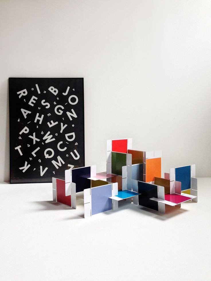 Giant House of Cards / Alphabet Soup coloring poster