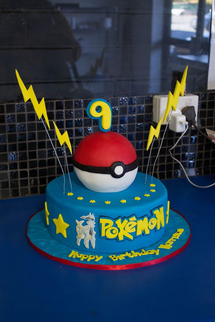 Pokemon Cake.  Must have thin fondant