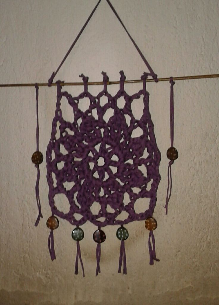 Crochet wall hanging. So easy so beautiful.