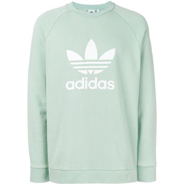 c56eeb7a3 Adidas Trefoil sweatshirt ($59) ❤ liked on Polyvore featuring men's fashion,  men's clothing