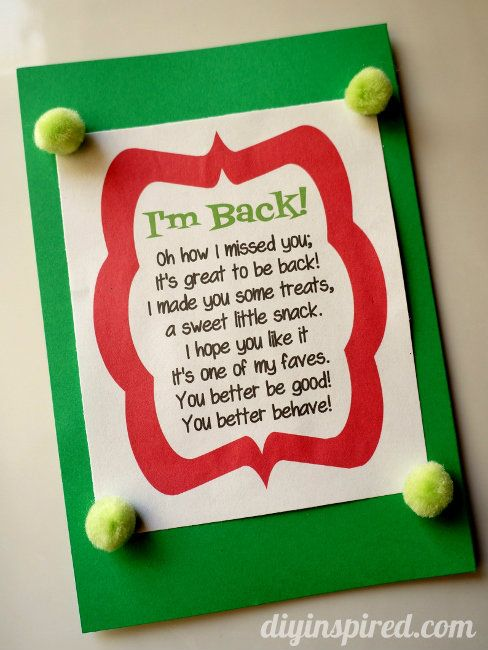Elf on the Shelf First Day Printable