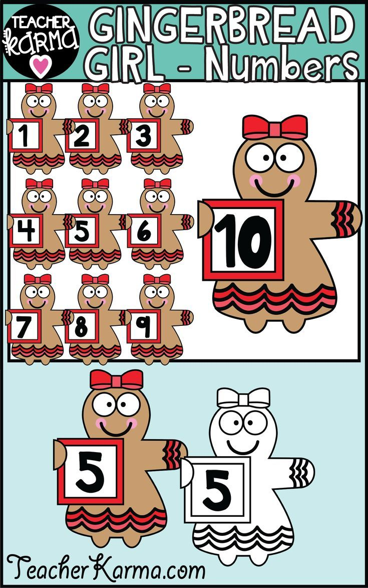 small resolution of gingerbread girls holding numbers math clipart math teaching resources pinterest