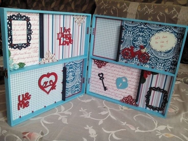 "A very Beautiful Shadow Box made using Papericious ""Pattern vol 3 and Rose Wedding""..made by crafter Ritika Wadhawan..What a beautiful use..!"