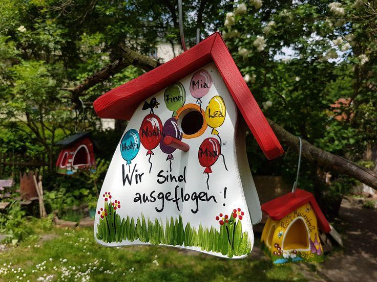 Vogelhaus Kindergarten Abschiedsgeschenk Erzieherin – Nistkasten, Vogelvilla zum Aufhängen, mit Haken, wetterfest