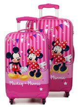 Ensemble 2 valises Mickey & Minnie Party Rose