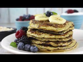 Tortitas de avena y plátano | Pancakes sin azúcar, sin harina y sin leche