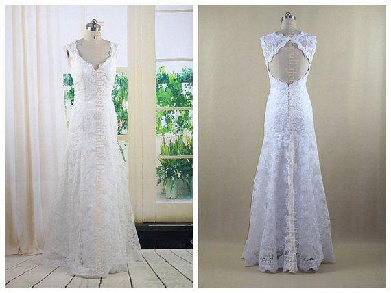 lace wedding dress / white wedding dress / by BeautifulLifeDress, $209.99