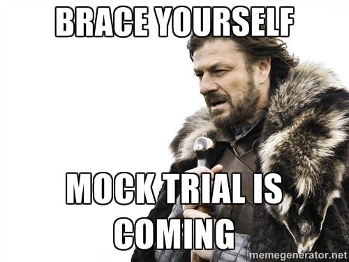 LOTR and MOCK TRIAL!  YAY!